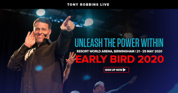 Tony Robbins Unleash The Power Within 2020 Birmingham UK