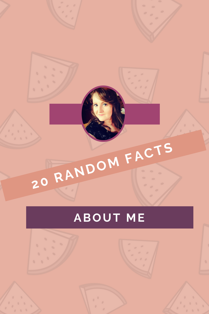 20 Really Random Facts About Me pinterest image