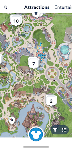 How To Plan For The Best Disneyland Paris Trip Ever, map view in the Disneyland Paris app