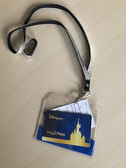 What to pack to get the most from Disneyland Paris, lanyard with magicpass and fastpass ticket in it
