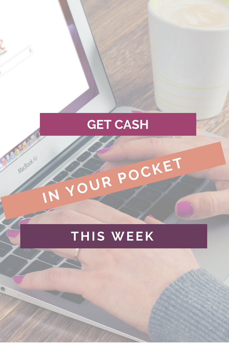 Get Extra Cash In Your Pocket This Week Pinterest image
