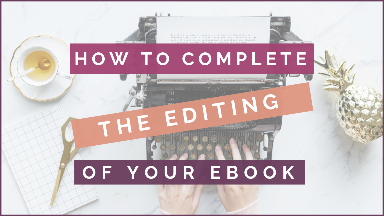 How to complete the editing of your ebook header image