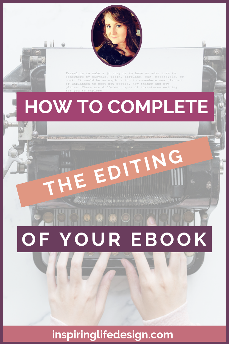 How to complete the editing of your ebook pinterest image