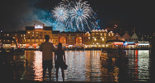 10 years left to live watching Disney fireworks across a lake