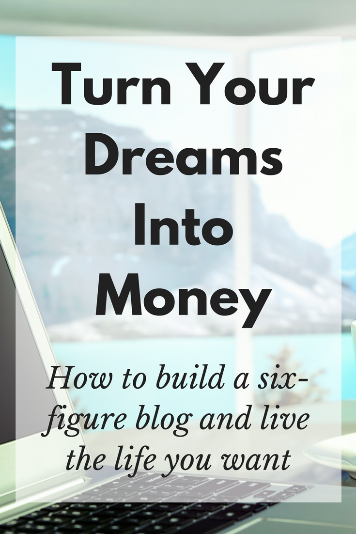 Turn Your Dreams Into Money link to course on Pinterest image