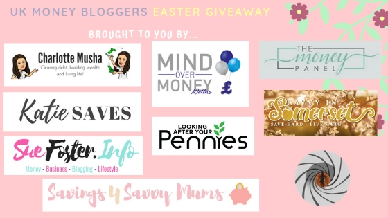 Easter prize giveaway, some of the UK Money Bloggers running the giveaway
