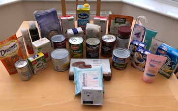 November and December Income and Profit Report, all of the items I put into my reverse advent calendar to donate to the foodbank