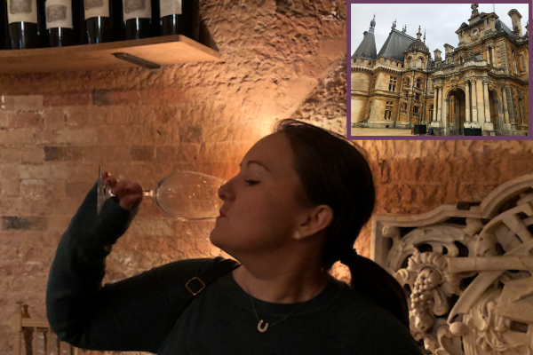 November and December Income and Profit Report, Corinna wine tasting at Waddesdon Manor