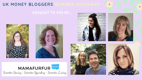 Summer prize giveaway, some of the UK Money Bloggers running the giveaway