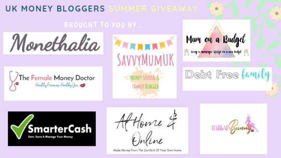Summer prize giveaway, UK Money Bloggers running the giveaway