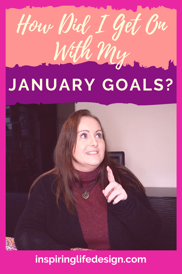 How did I get on with my January goals pinterest image