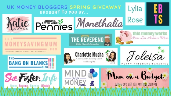 Spring prize giveaway, more UK Money Bloggers running the giveaway