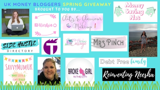 Spring prize giveaway, other UK Money Bloggers running the giveaway