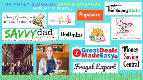 Spring prize giveaway, UK Money Bloggers running the giveaway