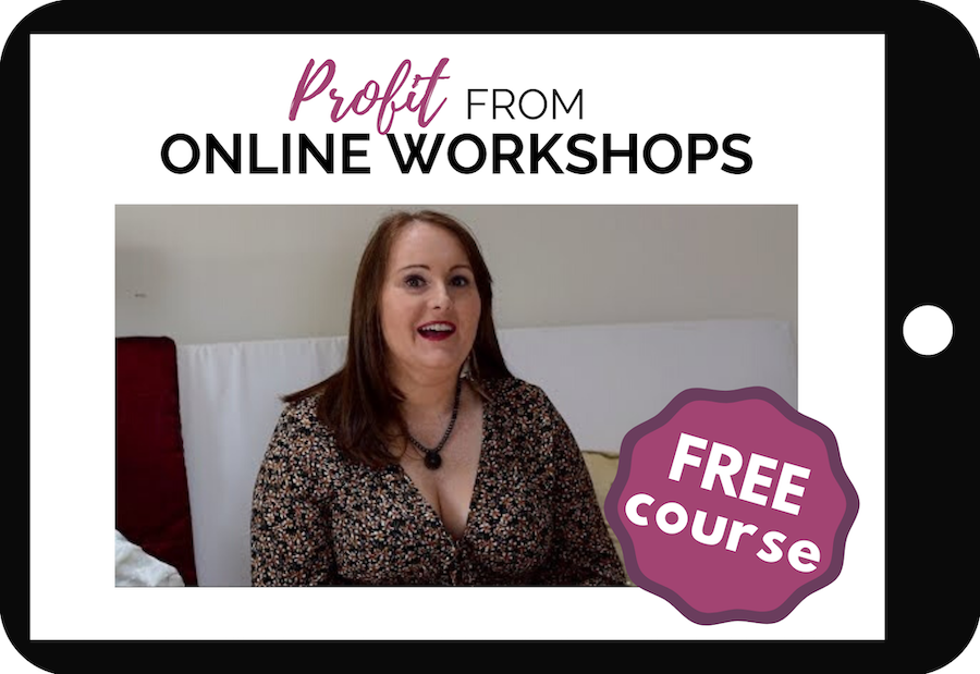 Profit From Online Workshops Free Course on a tablet device