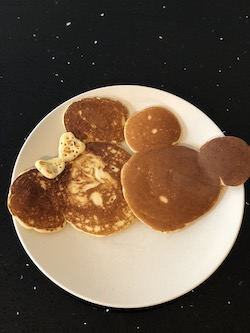 October 2018 Income & Profit Report, Mickey and Minnie shaped pancakes