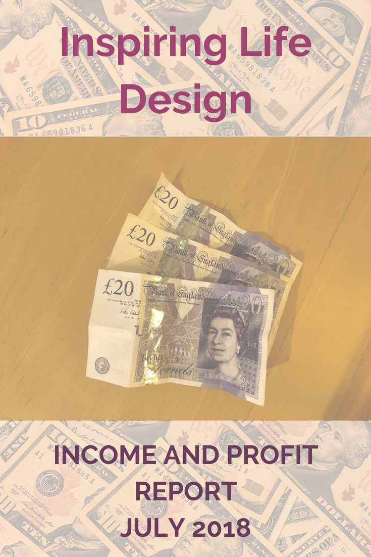 July income and profit report pinterest image