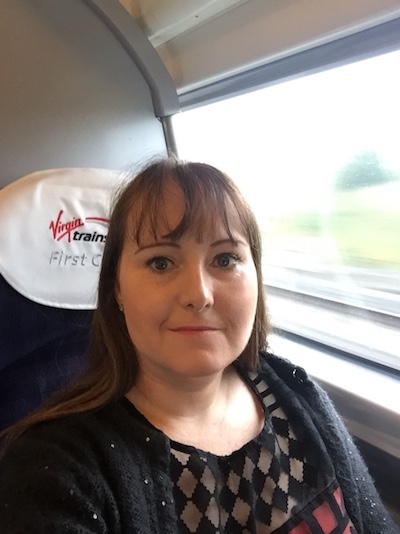 Show Me The Money Conference - Corinna on train to London